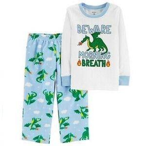 5/$25 Carter's Dragon Fleece Pajama Set